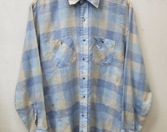 Vintage Towncraft Button Down Shirt Long Sleeve Jcpenney Double Pocket Nice Design