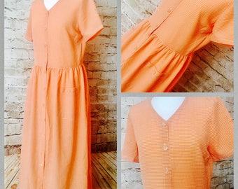 SALE! Vintage gingham maxi dress