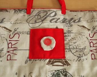 Large bag, tote bag, beach bag, sports bag tower Eiffel Paris