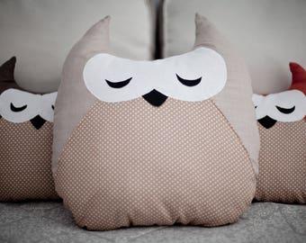 Pillow owl Pillow Cushion Fanny pillow Decorative pillow Soft toy Kids gift idea Owl pillow Owls Decor Nursery