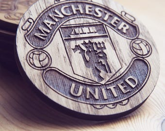 Manchester United F.C. Wooden Coaster