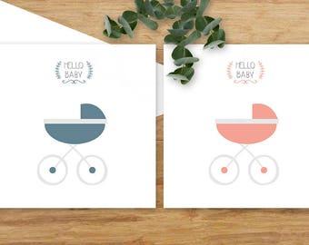 {Hello baby pram choice - birth. congratulation