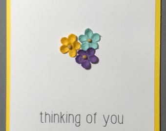 Thinking of You Dimensional Flowers Card
