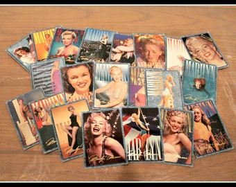 Stunning Lot of 21 Marilyn Monroe Collectible Trading Cards, Sports Time Card Company, Marilyn Monroe Collectors Cards, Marilyn Movie Cards