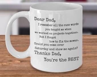 Funny Father Mug, Dad Humor Mug, Fathers Day Mug, Funny Father Coffee, Funny Coffee Dad, Funny Father Gift, Dad Joke Mug, Best Coffee Cup