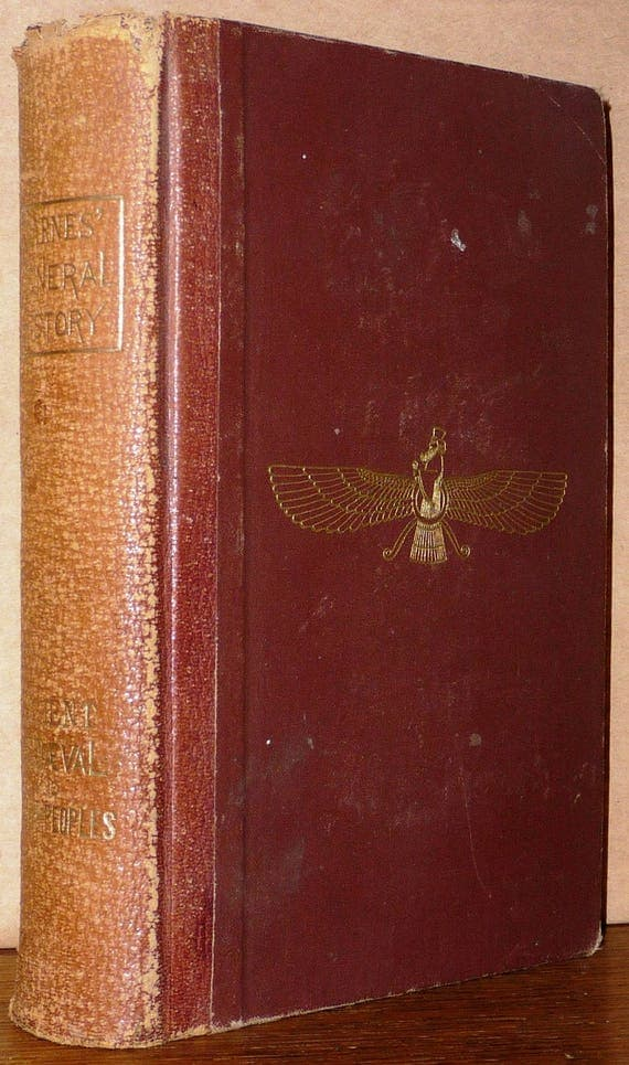 Barnes General History: A Brief History of Ancient, Mediaeval, and Modern Peoples Ca. 1881 Antique
