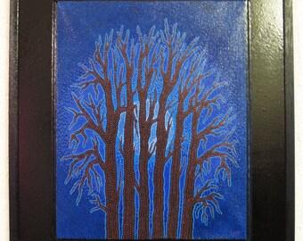 Painting: night blue.