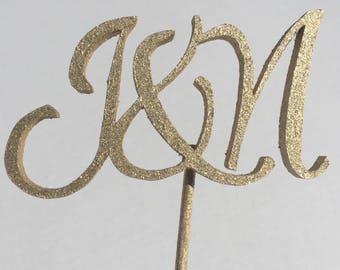 Monogram wedding cake topper, cake topper, wedding signage, cake topper initials, custom wedding cake toppers