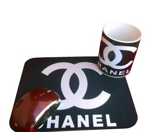 Chanel cup, chanel mousepad ,Unique mousepad, funny mousepad, mousepad for office, office supply,office gift,Funny Coffee Cup,Coffee Mug,