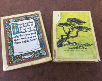 Vintage Retro Bookplates Name Tags Antioch Bookplate Company