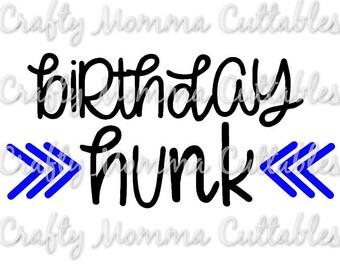 Birthday Dude file / Birthday Hunk Svg / Birthday Boy Cut File // First Birthday Silhouette File // Cutting File // SVG file