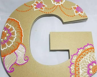 Decorated Henna Style Letter G