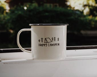 Happy Camper - Enamel Mug