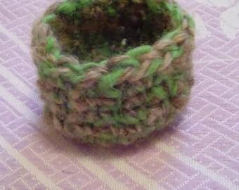 Handspun Crochet Jewelry Bowl
