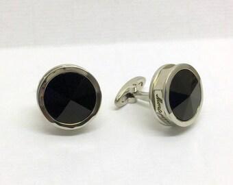 MONTEGRAPPA parola stainless steel glass cufflinks #165