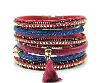 Denim Bracelet,Denim Jewelry,Jean Jewelry,Jean Bracelet,Denim Cuff Bracelet,Jean Cuff Bracelet,Cuff Bracelet,Embellished Jean Cuff,Gift