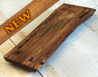 """P019 Live Edge Spalted Persimmon Cutting/Serving Board 15""""x 4-1/2""""x 1"""""""