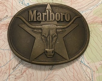Marlboro Original 1987 Brass Belt Buckle
