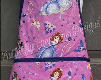 Princess Sophia little girls apron