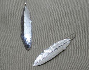 Sterling Silver Live Oak Leaf Earring