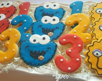 24 Sesame Street Cookies Party Favors