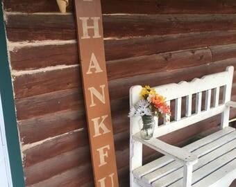 THANKFUL PORCH SIGN/Fall Home Decor/Fall Porch Decor/Thanksgiving Decor/Thanksgiving Porch Decor/Burlap Decor