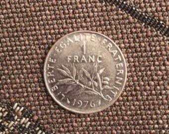 1976 France 1 Franc Coin