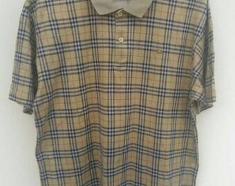 FREE SHIPPING!! Burberry Nova Check Polo Shirt Size XL Extra Large