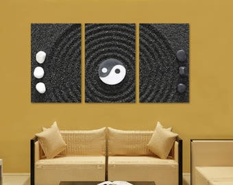 Yin Yang Zen Wall Art Canvas Print