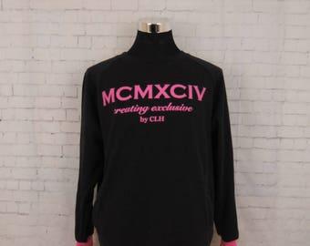 Vintage MCMXCIV Sweatshirt Swag Fashion Designer Sweater Size XL