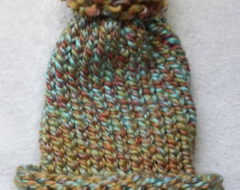 Autumn colors new born winter hat handmade knitted