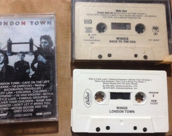 WINGS - London Town + Back To The Egg audio cassette tape lot