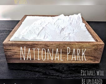 North Cascades National Park - 3D Printed Topographical Landscape 6 x 6 model