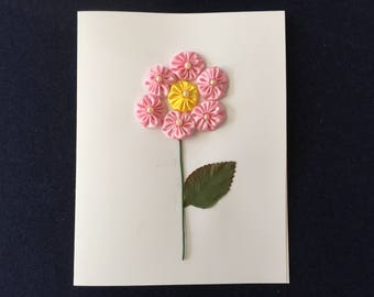 Greeting Card with a Light Pink Flower Design