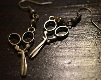 Hairdresser/Sewing/Scissor Dangle Earrings