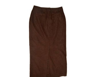 Vintage Morrison Scotland women skirt brown
