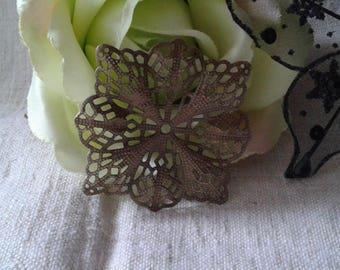 set of 5 floral filigree prints