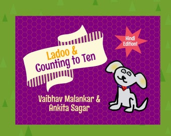Hindi Edition | LadooBook: Counting to Ten! Introduce Hindi to your kids with this great children's book!