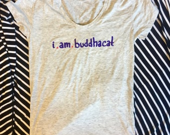 i.am.buddhacat Barely Burnout Tee