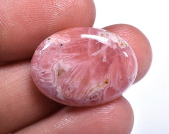 Natural Pink RHODOCHROSITE OVAL CABOCHON Loose Gemstone 17x23x5mm 21 Cts (2658-60)