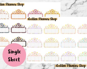 Floral Movie Marquees Stickers for Erin Condren Life Planner, Happy Planner, Recollections Planner