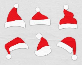 Santa Hat SVG, Clipart Christmas Santa Claus Hat Clip Art, Svg files, Digital