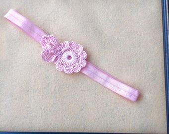Knitted Pink Headband