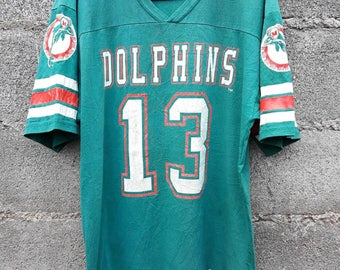 Vintage Miami Dolphins Jersey Wilson T-shirt Size M