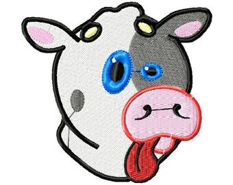 Cow embroidery design . Cow Design . Little Cow design . Embroidery machine . Machine embroidery