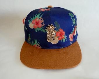 Pineapple Cap ...handmade... ... hat ... snapback.. hat... tropical... tropicalia ... our pineapple logo