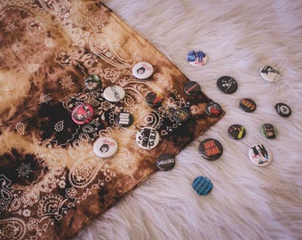 Distressed Bandana - Custom clothing - Punk rock - Accessories - Rock and roll outfit - Shredded Dreams