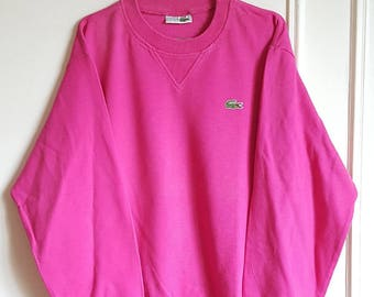 100% cotton Sweatshirt Lacoste Vintage years 80-90 Made in France size 3 (M) like new.