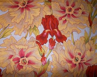 PHILLIP JACOBS IRIS AND PEONY PATCHWORK fabric