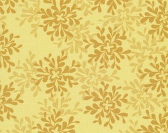 Mustard and yellow PATCHWORK fabric VALORI WELLS NEST
